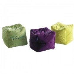 Безкаркасні пуфики-кубики 40х40х40