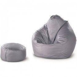 Безкаркасні крісло-груша + пуф-циліндр