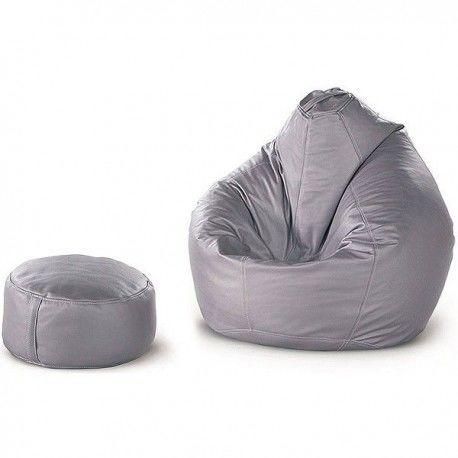 Бескаркасная кресло-груша + пуф-цилиндр