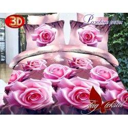 Розовые розы с компаньоном