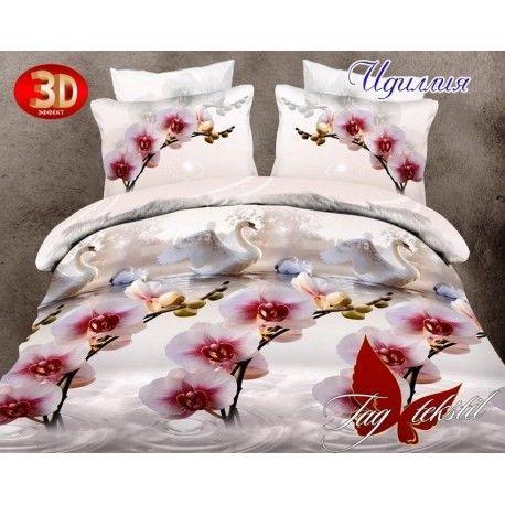Комплект постельного белья Идиллия с компаньоном