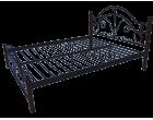 Металлическая кровать на деревянных ножках Диана