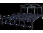 Металлическая кровать на деревянных ножках Кассандра