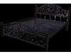 Металлическая кровать на деревянных ножках Жозефина