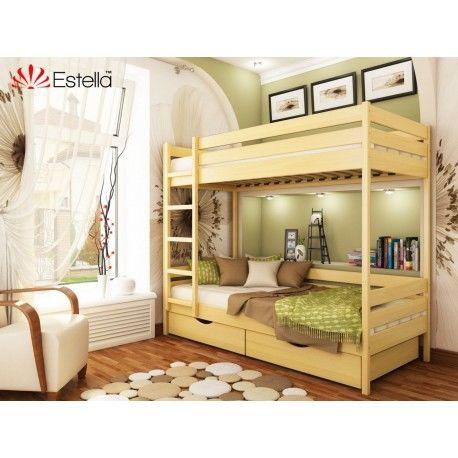 Деревянная двухъярусная кровать Дуэт Эстелла