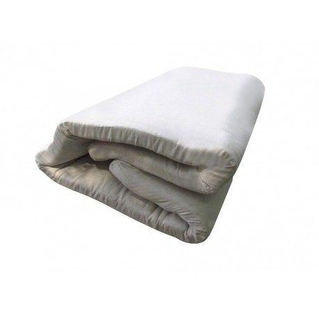 Льняной тонкий матрас-топпер в льняной ткани Линтекс
