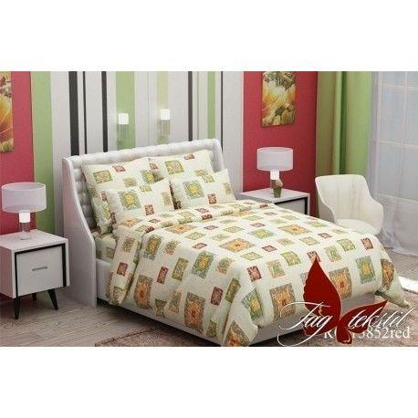 Комплект постельного белья (evro) RC13852red