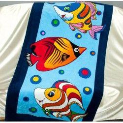 Полотенце пляжное Рыбки