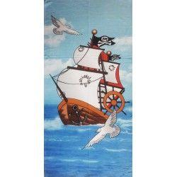 Полотенце пляжное Пиратский корабль