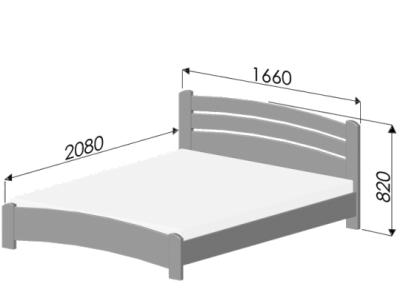 размер кровати венеция люкс 160х200